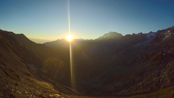 Thumbnail for Sunset in the Alps, timelapse