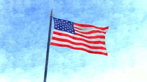 USA Flag Stop Motion