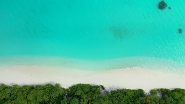Thumbnail for Natural overhead abstract view of a sandy white paradise beach and aqua turquoise water background