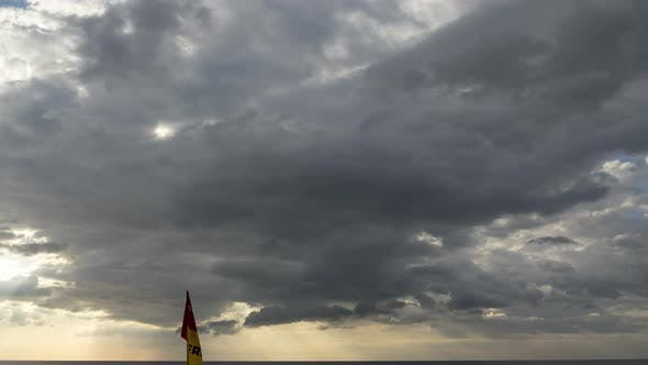 Timelapse Stormy Clouds at Sea