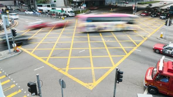 Traffic Crossing City