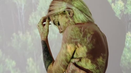 Depressed Woman Soul Healing Nature Unity Emotion