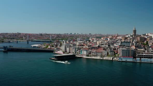 Thumbnail for Istanbul City Golden Horn Aerial View