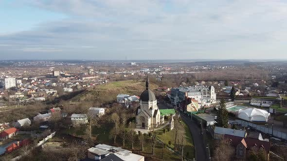 Thumbnail for Beautiful Church in Lviv Aerial, Ukraine