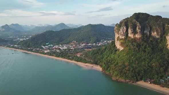 Thumbnail for Aerial View of Ao Nang City, Krabi, Thailand