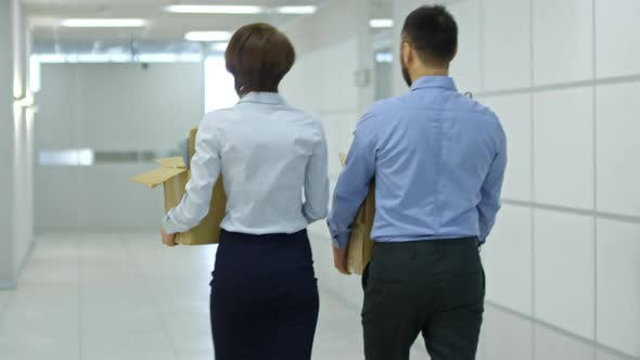 Thumbnail for Employees Carrying Belongings to New Office