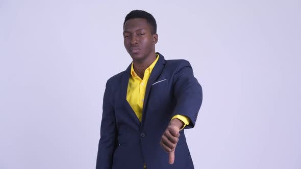 Thumbnail for Young Angry African Businessman Giving Thumbs Down