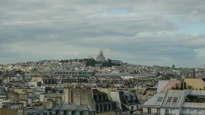 Timelapse of Paris panorama on cloudy day