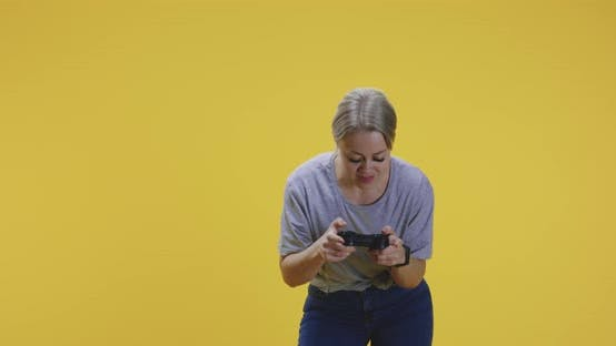 Thumbnail for Young Woman Playing Video Game