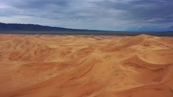 Thumbnail for Aerial View of Sand Dunes in Gobi Desert