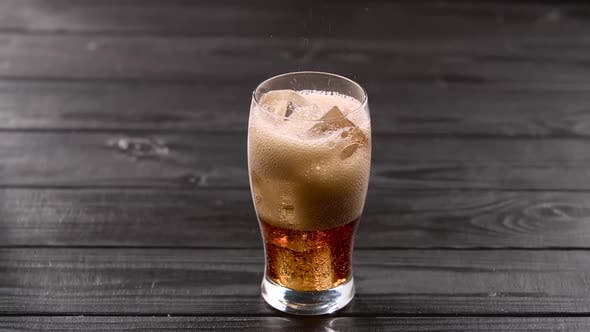 Thumbnail for Coca Cola Pouring Into Glass with Ice