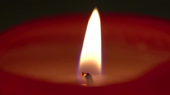 Thumbnail for A Candle Flame Flutters in the Breeze - Macro Detail