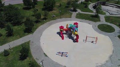 empty playground aerial view