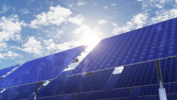 Alternative Energy Green and Solar Panels on the Electricity Ecology Farm