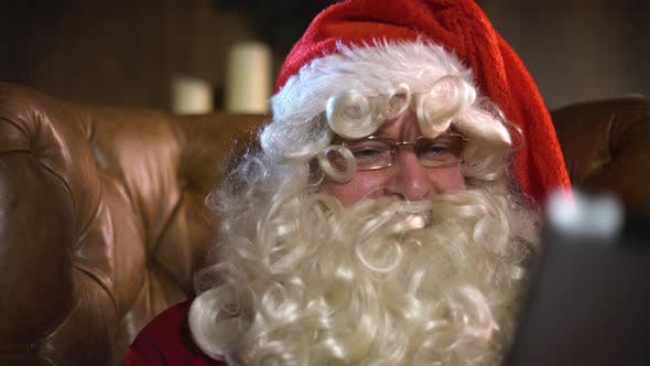 Thumbnail for Santa Claus with Tablet