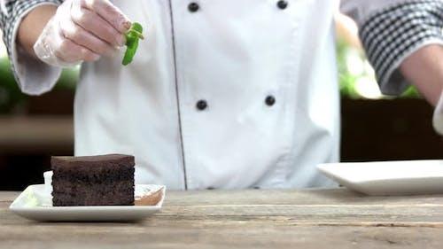 Chef Making Dessert.