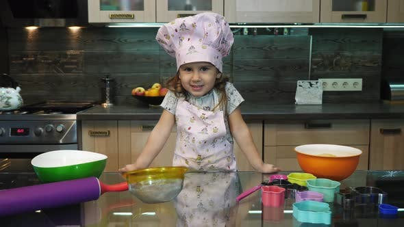 Thumbnail for Little girl in the kitchen