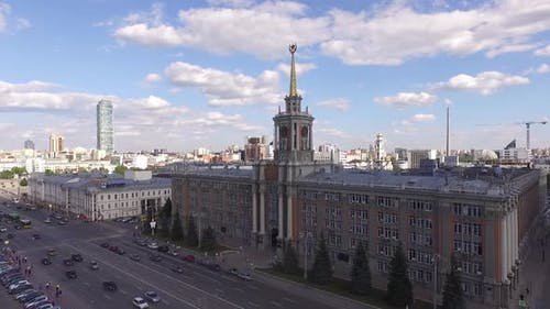 Yekaterinburg city administration building and Lenin Avenue 07