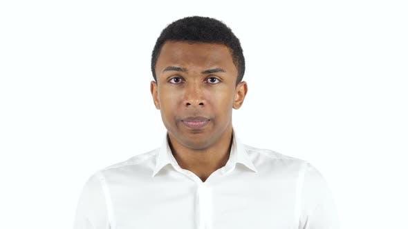 Amazed Black Man