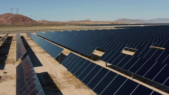 Thumbnail for Aerial View of Solar Power Station, Aerial View of Solar Farm on Sunny Day