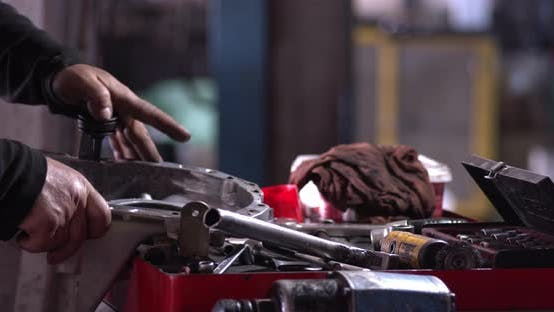 Thumbnail for Workshop Master Repairs Car Transmission Parts