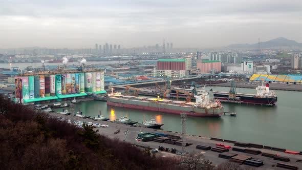 Thumbnail for Aerial Incheon Transportation Ferry Transport Korea