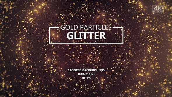 Thumbnail for Gold Glitter Particles