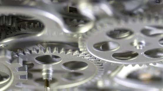 Mechanische graue Zahnräder Drehbewegung