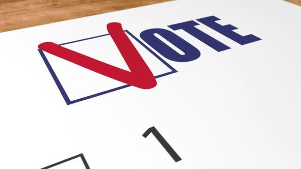 Ballot Voting in Elections and Blue Checkbox Vote