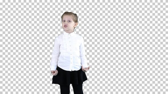 Cover Image for Cute Little Girl Smiling and Confidently Talking to Camera