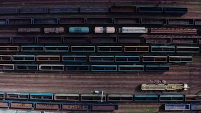 Train Moving In Train Depot