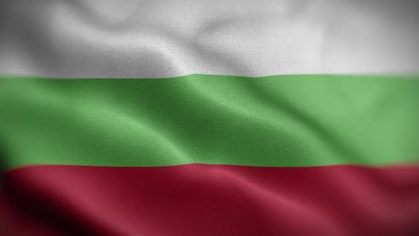 Thumbnail for Bulgaria Flag Textured Waving Front Background HD