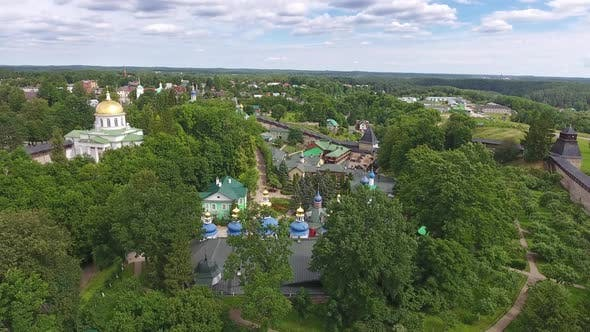 Thumbnail for Aerial of Pskovo-Pechersky Dormition Monastery