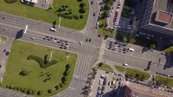 Thumbnail for Overhead Aerial View Of Highway