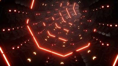 4K Skull Space Tunnel Loop
