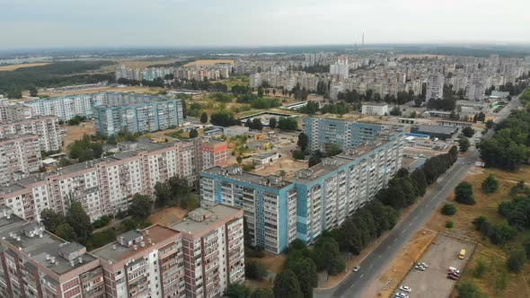 Thumbnail for Aerial View of Residential Multi-storey Buildings in the City