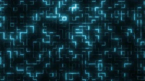Glowing Technology Maze Loop 4K