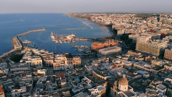 Thumbnail for Aerial View of Seaside City of Bari, Italy