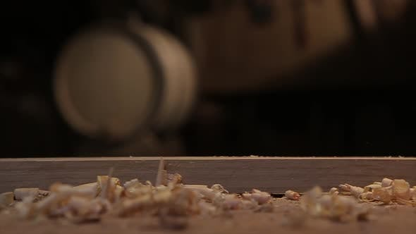 Thumbnail for Man Hands with Carpenters Plane Production of Oak Barrels