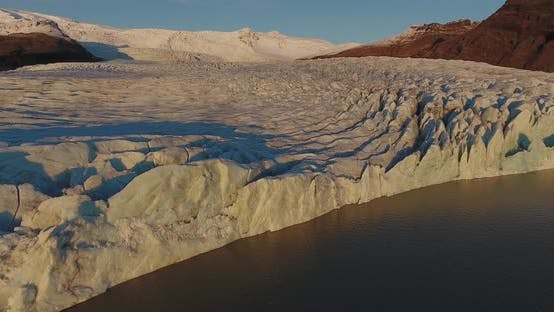Thumbnail for Flying Over A Glacier In Iceland