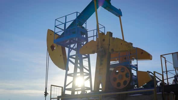 Thumbnail for Extraction of Oil and Gas From the Bowels of the Earth. Oil Rig Pumps Raw Materials