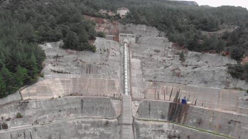 Huge water pipeline of hydroelectric power station