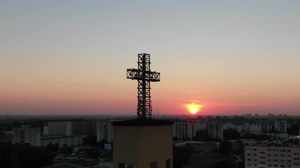 Cross On The Church