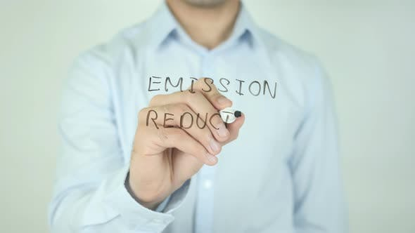 Cover Image for Emission Reduction, Writing On Screen