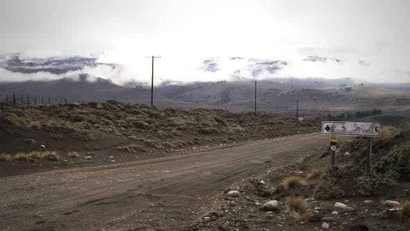 Thumbnail for Empty Dirt Road near the Andes Mountains in Patagonia, Neuquen province, Argentina.