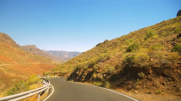 Thumbnail for Scenic Route Along Gran Canaria with Valleys and Mountains in Background