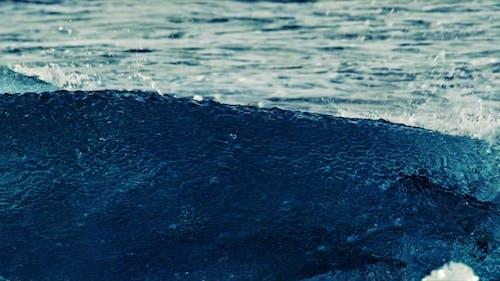 Iceberg and Waves in  Diamond Beach