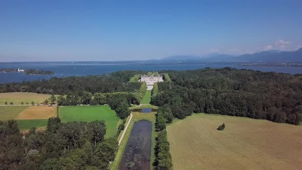 Thumbnail for Aerial View of Herrenchiemsee (Herreninsel), Germany