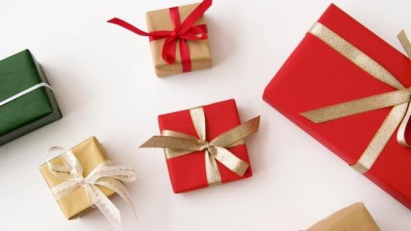 Thumbnail for Christmas Gifts Set on White Background