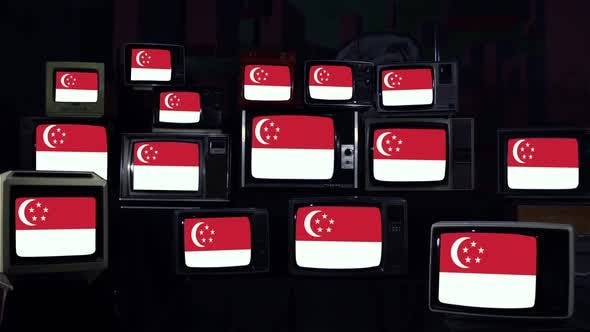 Thumbnail for Flags of Singapore and Retro TVs.